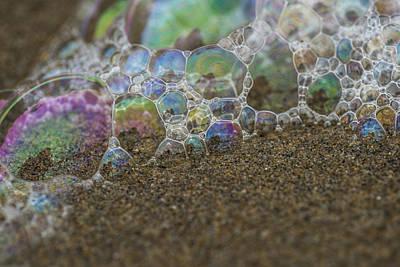 Photograph - Bubbles On Sand by Robert Potts