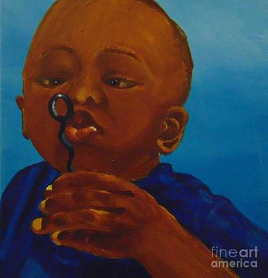 Art Print featuring the painting Bubbles by Saundra Johnson