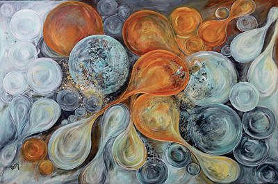 Abstract Art Painting - Bubbles by Venetka Arsenov