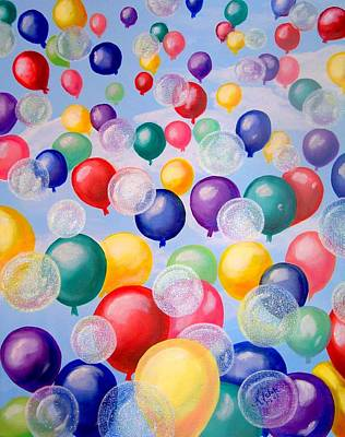 Painting - Bubbling Balloons by Kathern Welsh