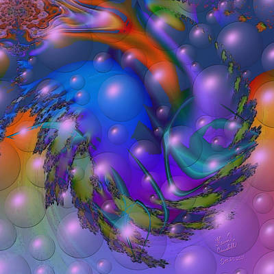 Bubbling Over With Enthusiasim Art Print by Kevin Caudill