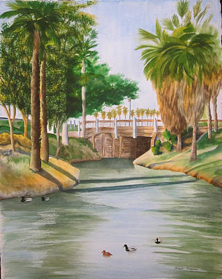 Painting - Bubbling Springs Park by Teresa Beyer