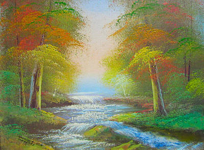 Painting - Bubbling Stream by Monique Montney