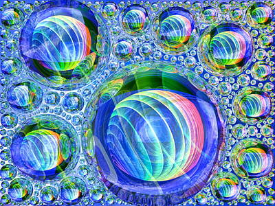 Euphoria Digital Art - Bubbly by Andreas Thust