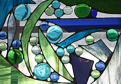 Ocean. Stained Glass Ocean Photograph - Bubbly Blues by Kristin Elmquist