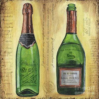 Copper Painting - Bubbly Champagne 1 by Debbie DeWitt