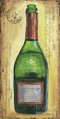 Copper Painting - Bubbly Champagne 3 by Debbie DeWitt