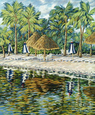 Yacht Club Painting - Buccaneer Island by Danielle  Perry