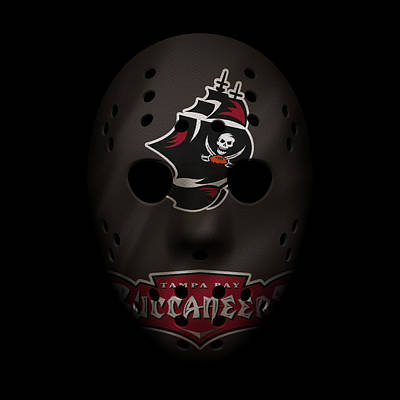 Buccaneers War Mask 2 Art Print