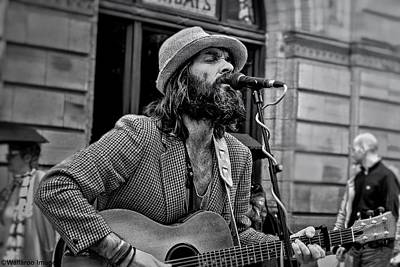 Photograph - Buchanan Street Busker, Glasgow by Wallaroo Images