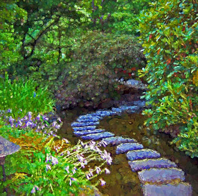 Photograph - Buchart Garden Path In Abstraction by Ginger Wakem