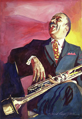 Buck Clayton Jazz Trumpet Print by David Lloyd Glover