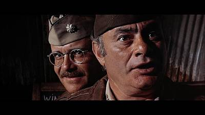 Buck Henry And Martin Balsam Publicity Photo Catch 22 1970 Print by David Lee Guss