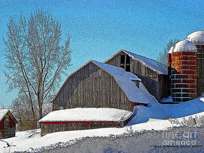 Diane Berry Digital Art - Buck Hill Barn by Diane E Berry