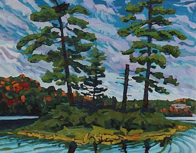 Voyageurs Painting - Buck Lake Island by Phil Chadwick