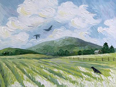 Painting - Buck Mountain by Paula Blasius McHugh