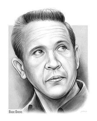 Drawing - Buck Owens by Greg Joens