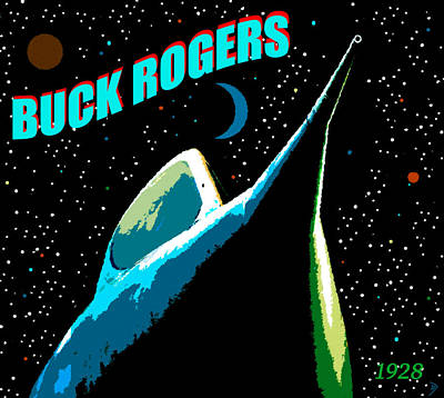 Painting - Buck Rogers Since 1928 by David Lee Thompson