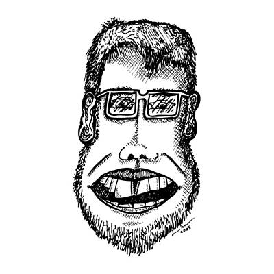 Dude Drawing - Buck Tooth Friend by Karl Addison