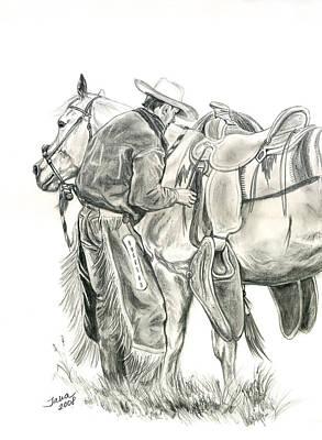 Drawing - Buckaroo by Jana Goode