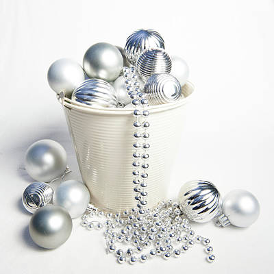 Photograph - Bucket Of Baubles by Helen Northcott