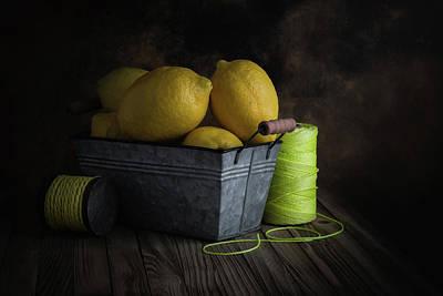 Photograph - Bucket Of Lemons by Tom Mc Nemar