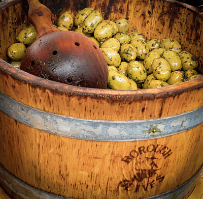 Photograph - Bucket Of Olives by Jean Noren