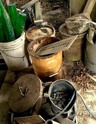 Photograph - Buckets Of Rust And Dust by Robin Lewis