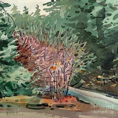 Redwoods Painting - Buckeye And Redwoods by Donald Maier