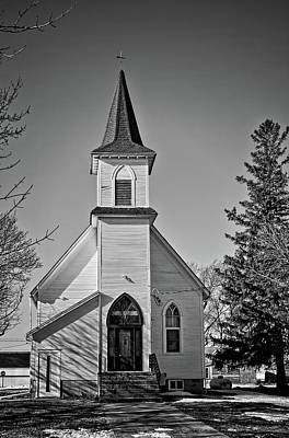 Photograph - Buckeye Church Bnw by Bonfire Photography