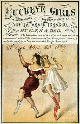 Buckeye Girls Tobacco Poster 1869 Art Print