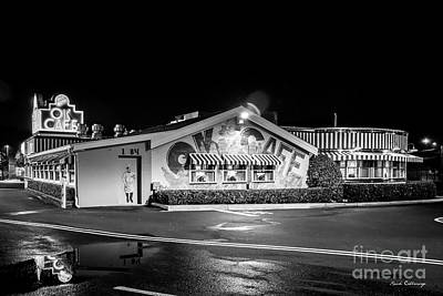 Photograph - Buckhead's Classic Ok Cafe B W Atlanta Restaurant Art by Reid Callaway