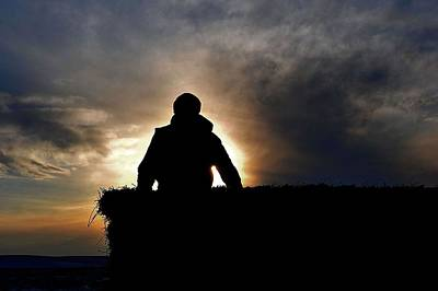 Photograph - Bucking Hay At Sunrise by Amanda Smith