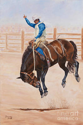 Danielle Smith Painting - Bucking High by Danielle Smith