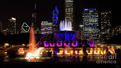 Photograph - Buckingham Fountain Chicago by Jennifer White