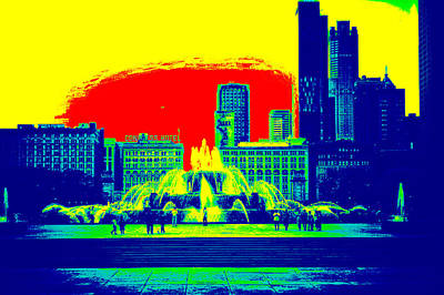 Buckingham Fountain Art Print by Thomas Woolworth