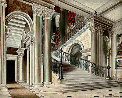 Digital Art - Buckingham House Stair Case by Pennie McCracken