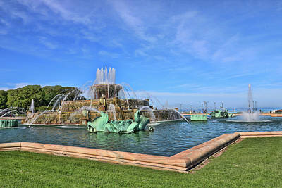 Photograph - Buckingham Memorial Fountain # 6 by Allen Beatty