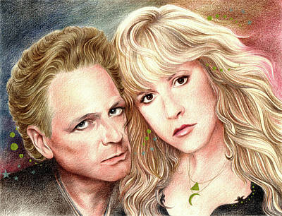 Drawing - Buckingham Nicks by Johanna Pieterman