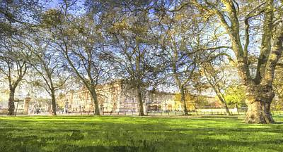 Photograph - Buckingham Palace Art Panorama by David Pyatt