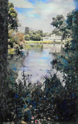 Painting - Buckingham Palace Garden - No One by Richard James Digance