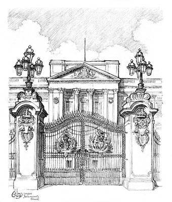Westminster Abbey Drawing - Buckingham Palace London by Vlado Ondo
