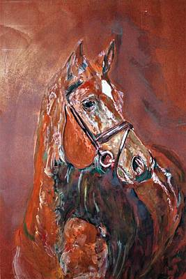 Painting - Buckled With Leather Strips. by Khalid Saeed