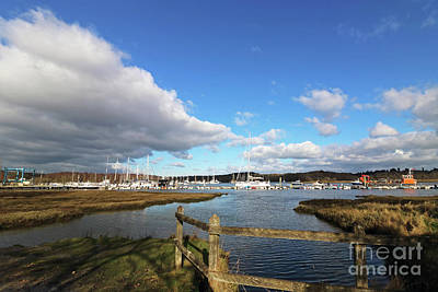 Photograph - Bucklers Hard Harbour On The Beaulieu River Uk by Julia Gavin