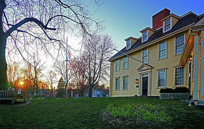 Photograph - Buckman Tavern At Sunset by Wayne Marshall Chase