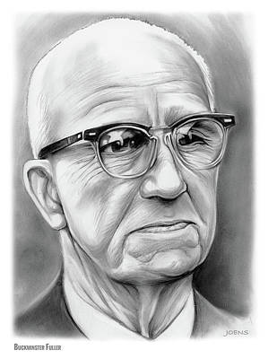 Drawings Rights Managed Images - Buckminster Fuller Royalty-Free Image by Greg Joens