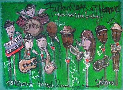 Painting - Buckner Funken Jazz by Laurie Maves ART