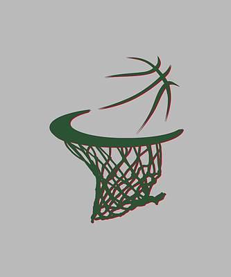 Bucks Basketball Hoop Art Print