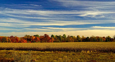 Bucks County Farm In Autumn Art Print by William Jobes