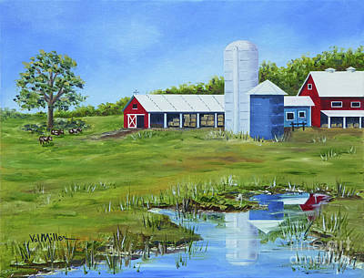 Bucks County Farm Art Print by Val Miller